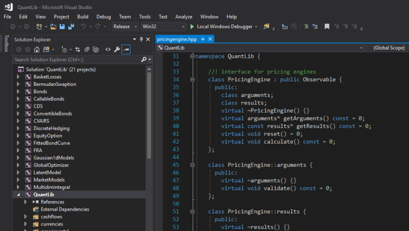 Building QuantLib in VS2017 – From First Principles