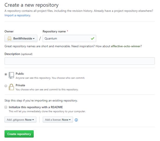 GitHubCreateRepository